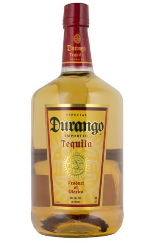 This is an image of a bottle of Durango Gold Tequila