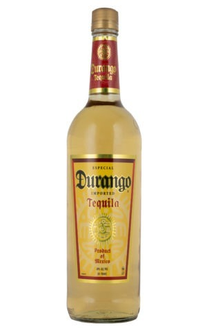The is a photo of a bottle of Durango Gold Tequila