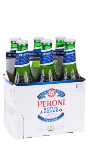 This is an image of Peroni Nastro Azzurro Lager 6p