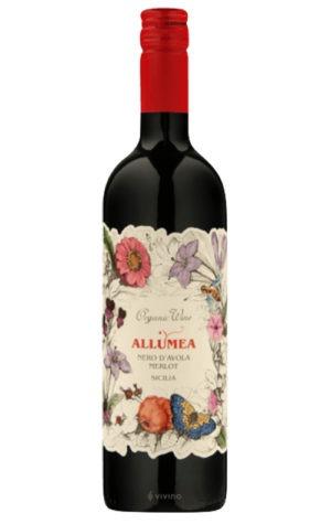 This is an image of Allumea Nero D'Avola Merlot