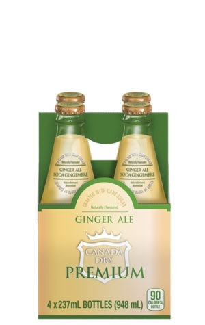 This is an image of 237ml Canada Dry Premium Ginger Ale 4pk