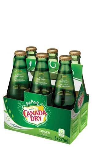 This is an image of Canada Dry Ginger Ale 237ml 6pk