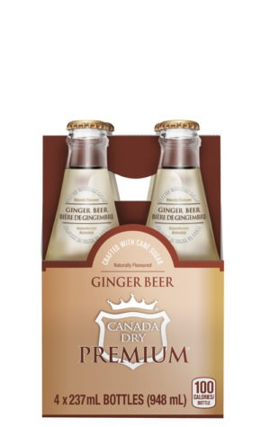 This is an image of Canada Dry Premium Ginger Beer 237ml 4pk