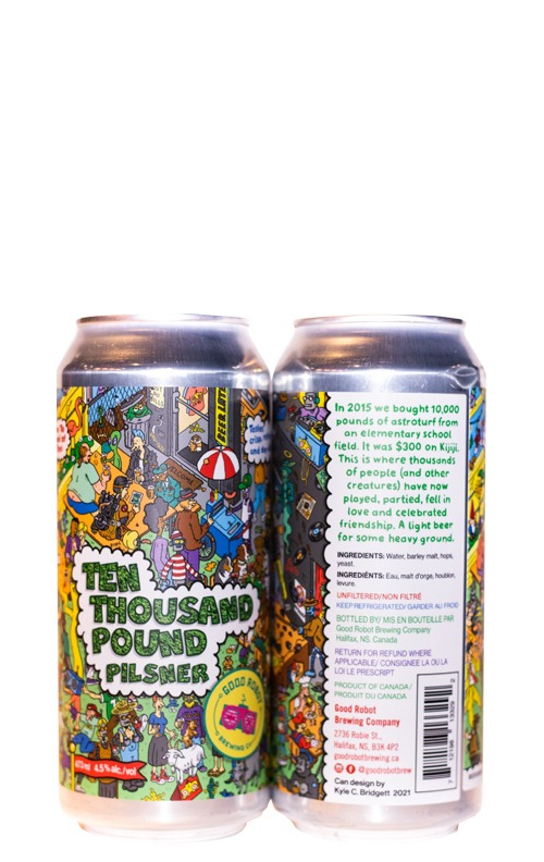 This is an image of Good Robot Ten Thousand Pound Pilsner