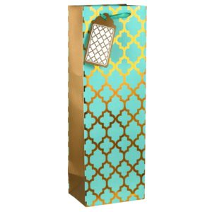 Taylor Hill Agencies Glam Wine Bag, Turquoise