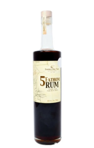 This is an image of 5 Fathom Dark Rum