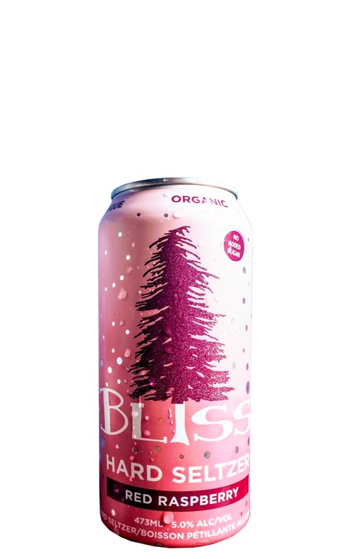A product image for Bliss Raspberry Hard Seltzer