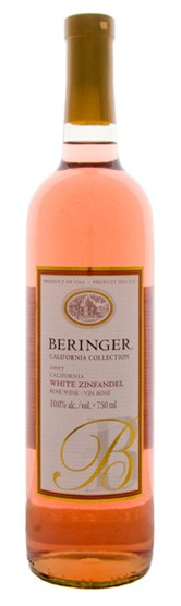 This is an image of Beringer White Zinfandel