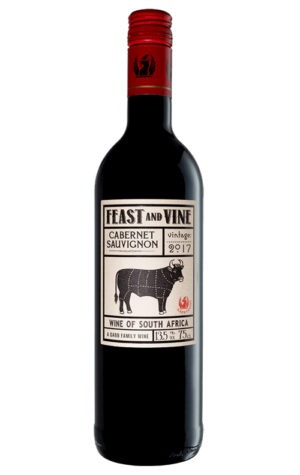 This is an image of Feast and Vine Cab Sauvignon