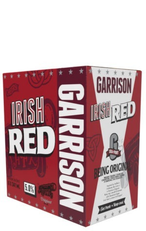 A product image for Garrison Irish Red Ale 6x341ml