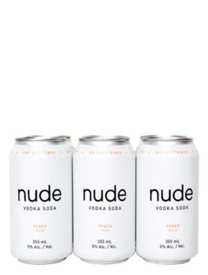 A product image for Nude Vodka Soda Peach 6 Pack