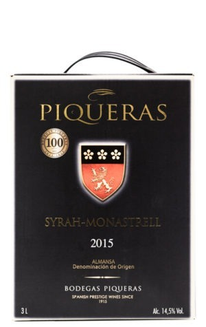 This is an image of Bodegas Piqueras Black Label Syrah Monastrell