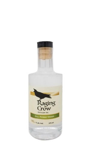 This is an image of Raging Crow Dill Pickle Vodka