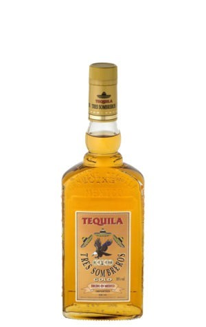 This is an image of Tres Sombreros Gold 350ml